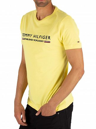 Tommy Hilfiger Yellow Cream Essential T-Shirt