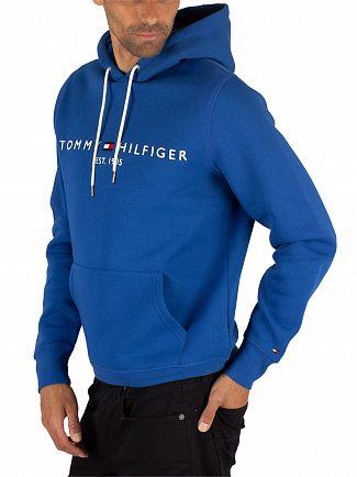 Tommy Hilfiger Blue Quartz Logo Pullover Hoodie