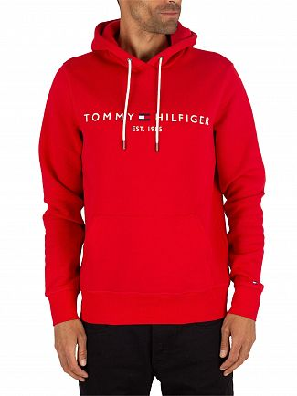Tommy Hilfiger Haute Red Logo Pullover Hoodie