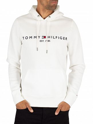 Tommy Hilfiger Snow White Logo Pullover Hoodie