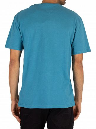 Tommy Jeans Saxony Blue Contrast Neck Washed T-Shirt
