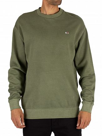 Tommy Jeans Olive Night Washed Sweatshirt