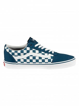 Vans Sailor Blue Ward Checkerboard Trainers