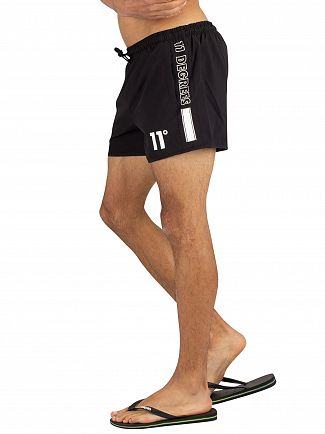11 Degrees Black Optum Swim Shorts