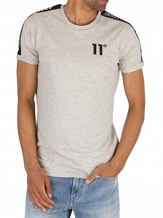 11 Degrees Tornado Marl Taped Muscle Fit T-Shirt
