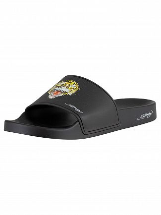 Ed Hardy Black Fierce Sliders