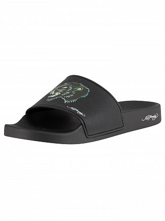 Ed Hardy Black Stealth Sliders