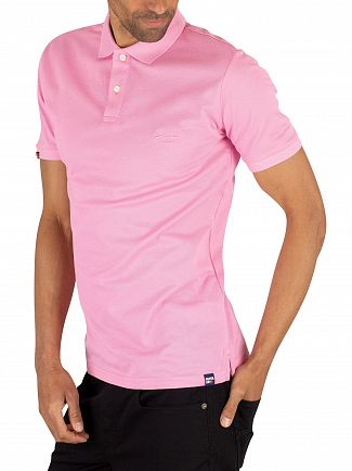 Superdry Prep Pink Classic Micro Pique Poloshirt