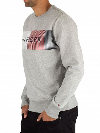 Tommy Hilfiger Cloud Heather Graphic Sweatshirt