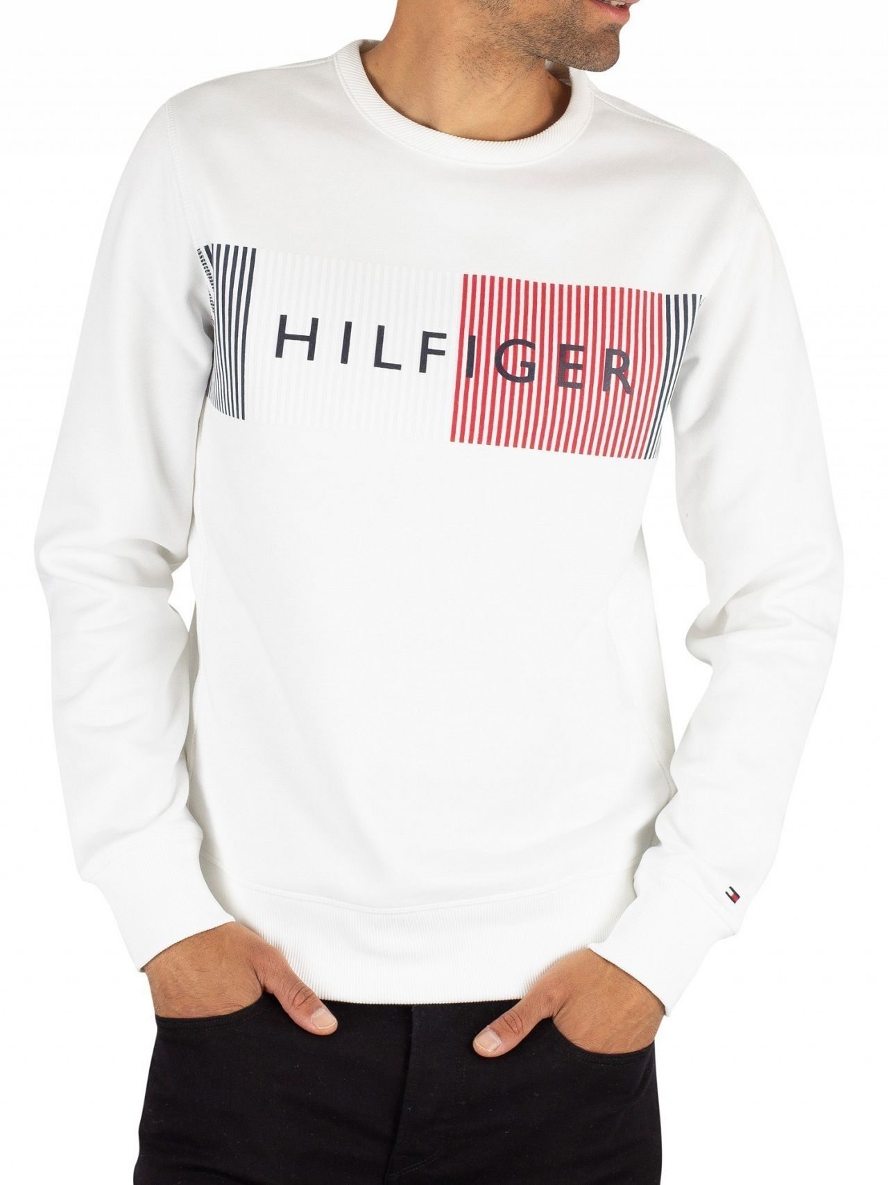 4c10b29e Tommy Hilfiger Bright White Graphic Sweatshirt. Tap to expand