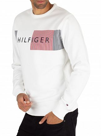 Tommy Hilfiger Bright White Graphic Sweatshirt