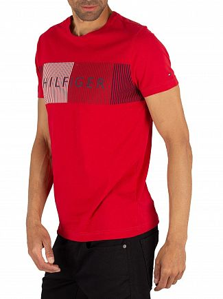 Tommy Hilfiger Haute Red Merge T-Shirt