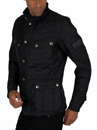Barbour International Navy Ariel Quilt Jacket