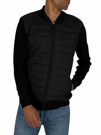 Barbour International Black Baffle Zip Jacket