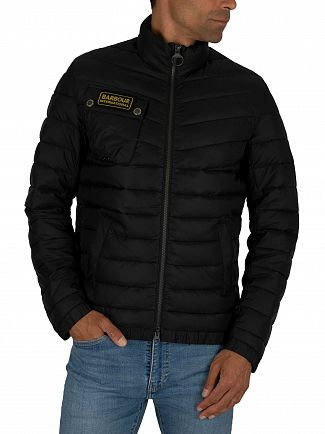 Barbour International Black Chain Baffle Jacket