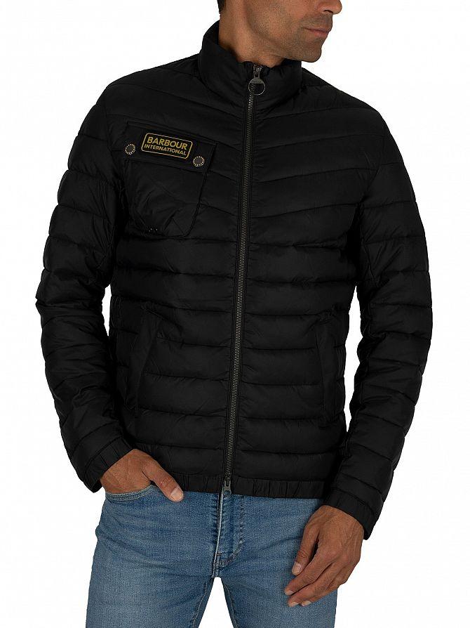 Barbour International Black Chain Baffle Jacket