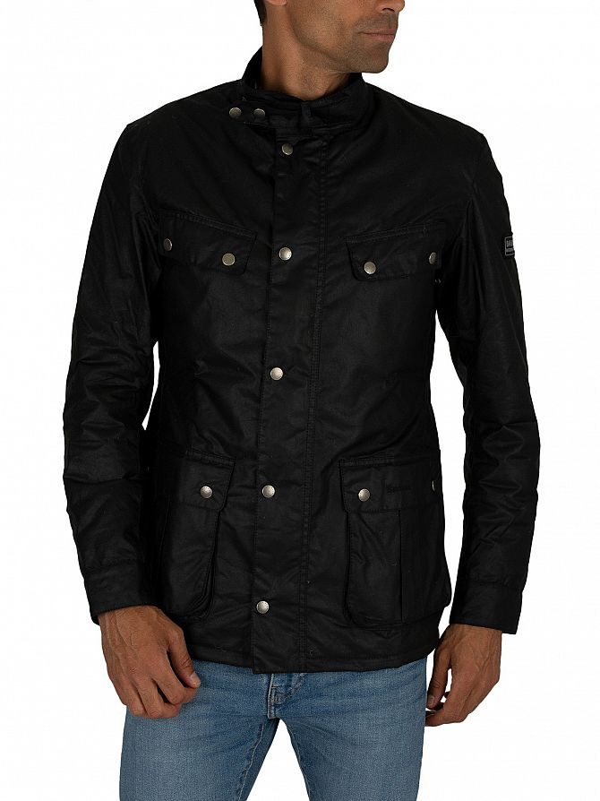 Barbour International Black Duke Wax Jacket