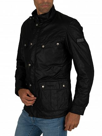 Barbour International Black Duke Wax Jacket
