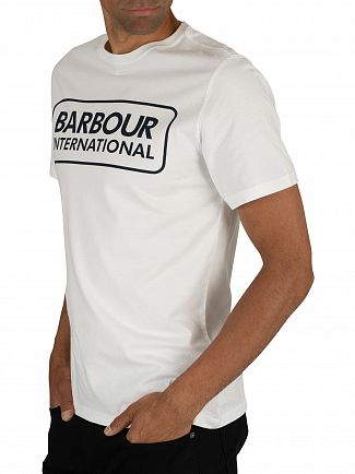 Barbour International White Essential Large Logo T-Shirt