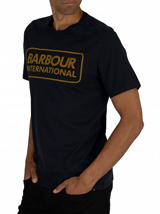 Barbour International Navy Essential Large Logo T-Shirt