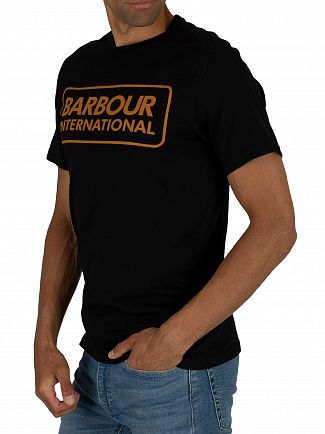 Barbour International Black Essential Large Logo T-Shirt