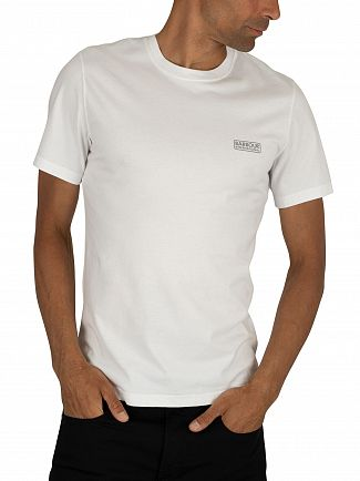 Barbour International White Small Logo T-Shirt