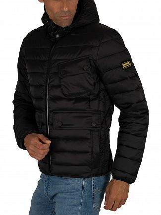 Barbour International Black Ouston Quilt Jacket
