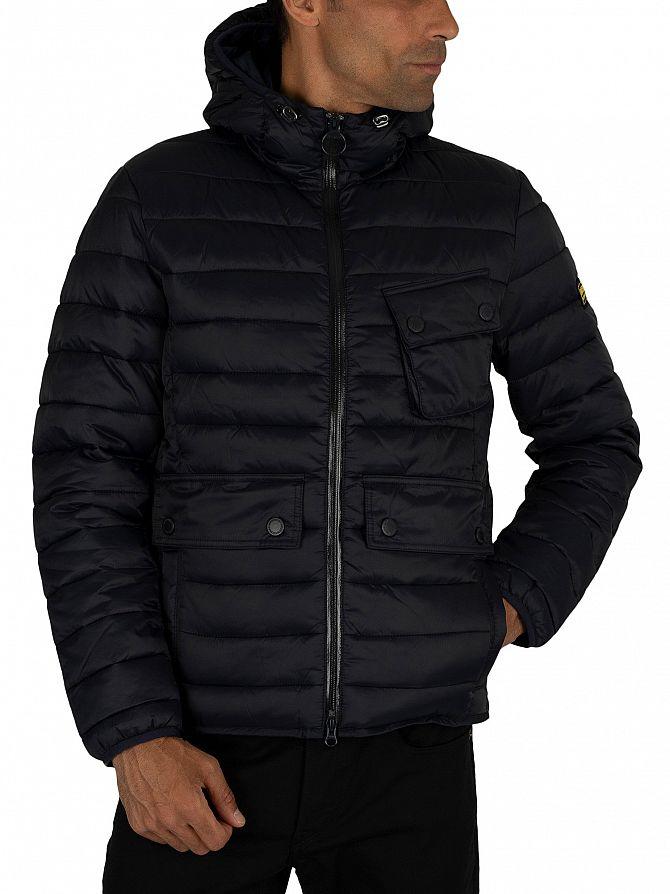 Barbour International Navy Ouston Quilt Jacket