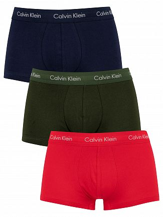 Calvin Klein Lollipop/Duffle Bag/Peacoat 3 Pack Low Rise Trunks
