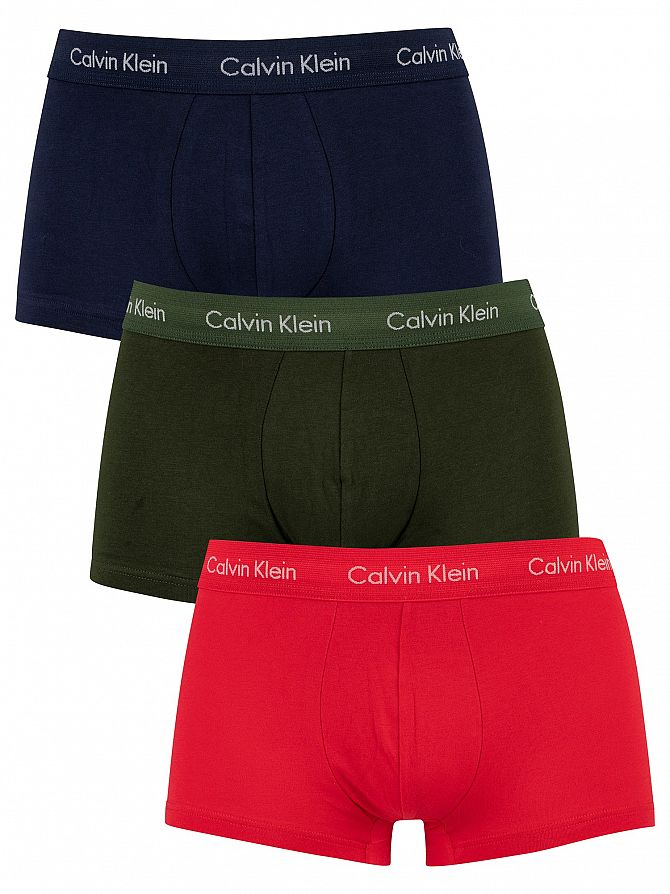 Calvin Klein Lollipop/Duffle Bag/Peacoat 3 Pack Low Rise Trunks