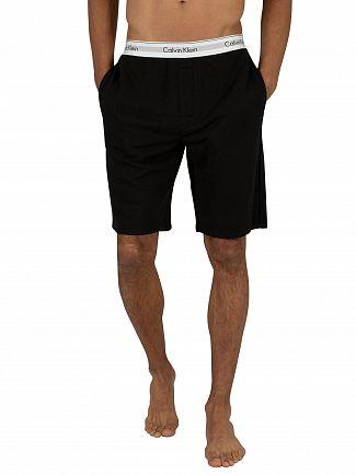 Calvin Klein Black Logo Waistband Sweat Shorts