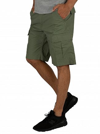Carhartt WIP Dollar Green Rinsed Aviation Cargo Shorts