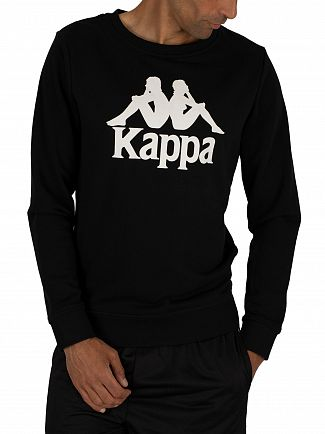 Kappa Black/White Zemin Graphic Sweatshirt