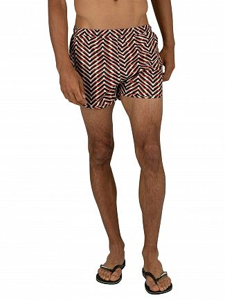 Religion White/Orange Arrow Swim Shorts
