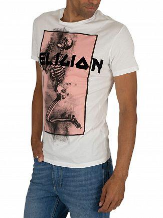 Religion Pink/White Champ Straight Hem T-Shirt