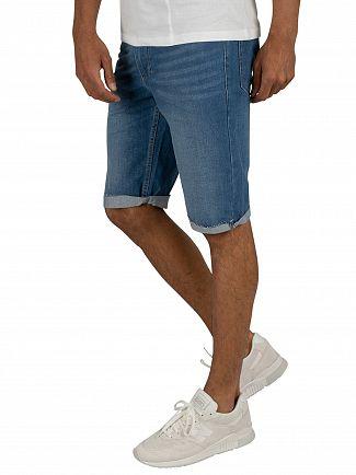 Religion Rehab Blue Hackney Denim Shorts