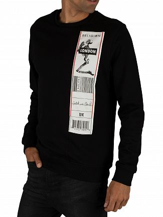 Religion Black/White Patch Sweatshirt
