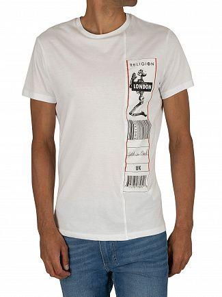 Religion White/White Patch T-Shirt