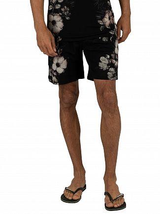 Religion Black Vines Sweat Shorts