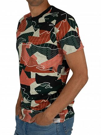 Scotch & Soda Navy Allover Print T-Shirt