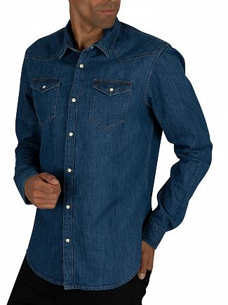 Scotch & Soda Blue Ams Blauw Denim Shirt