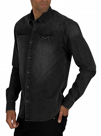 Scotch & Soda Antra Ams Blauw Denim Shirt