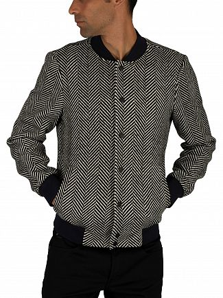 Scotch & Soda Black Nautical Classic Bomber Jacket