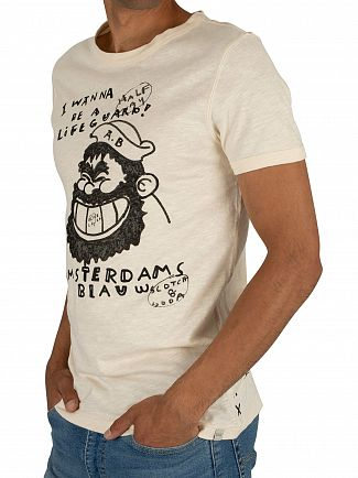 Scotch & Soda Off White Vintage T-Shirt