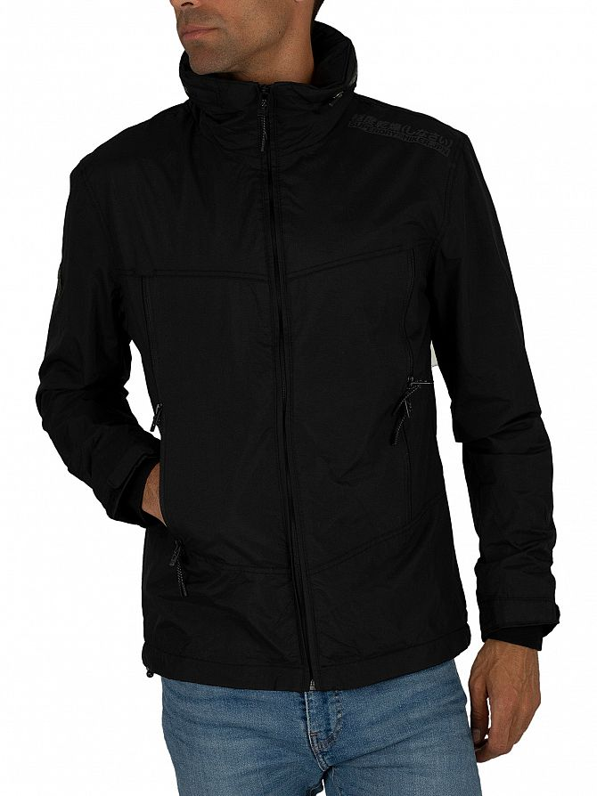Superdry Black Altitude SD-Wind Hiker Jacket