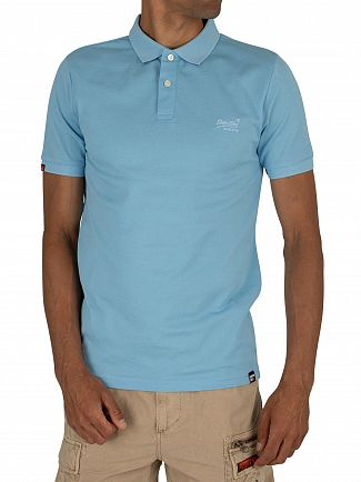 Superdry Wave Blue Classic Micro Pique Poloshirt