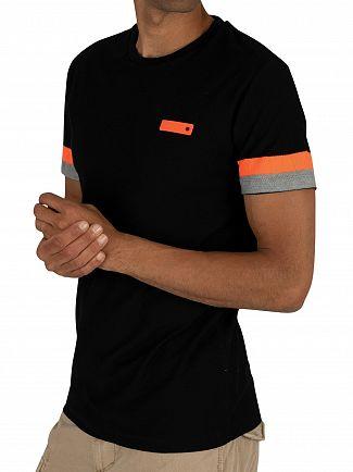 Superdry Black International Engineered T-Shirt