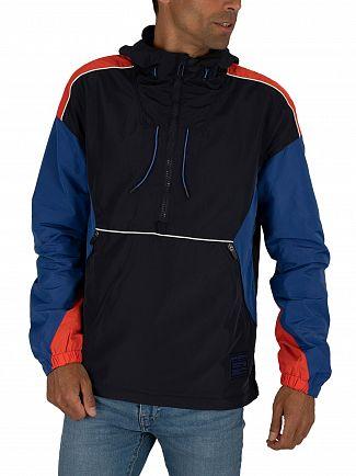 Superdry Blue Jared Overhead Cagoule Jacket