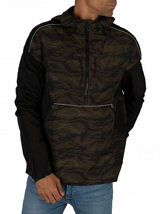 Superdry Black/Camo Jared Overhead Cagoule Jacket