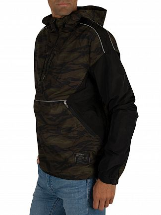 Superdry Black/Camo Jared Overhead Cagoule Jacket